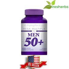 MEGA MULTIPLE FOR MEN 50 PLUS VITAMIN SUPPLEMENT HEALTHY AGING 100 COATED CAPLET
