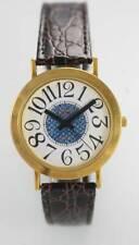 Scottsdale Polo Blanco Azul Unisex Oro Inoxidable Piel Marrón Reloj de Cuarzo