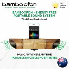 BambooFon - Energy Free Portable Sound System - Tribal (Travel Bag Included)