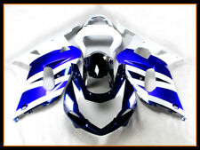 New Fairing Fit for Suzuki 2001-2003 GSXR 600 750 White Blue ABS Plastics a083