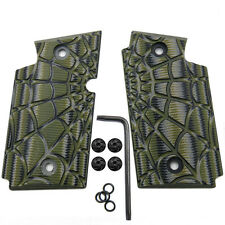 Sig Sauer P938 G10 Grips OD Green Olive Spider Web Texture Cool Hand H4-W-21