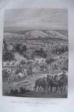 c49-5d Gravure 1860 siège de la ville et des chateaux de Namur juin 1692