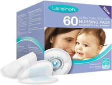 Lansinoh Breast Pads 60 Disposable Nursing *New Blue Lock Feature* - Best price