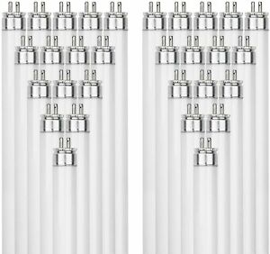 40 Pack Sunlite F21T5/830 21-Watt T5 Linear Fluor Lamp Mini Bi Pin Base 3000K