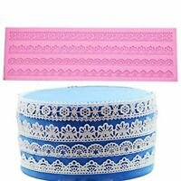 Embossing Mat Lace Band Silicone imprint Fondant Sugar Paste Mould Cake Decorate