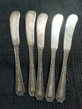 5 Sterling 122.2 gramsTOWLE Butter Knives LOUIS XIV 1924