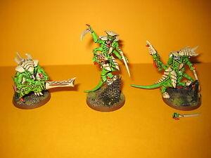 Tyraniden - Tyranids - 3x well painted Warriors - gut bemalte Krieger