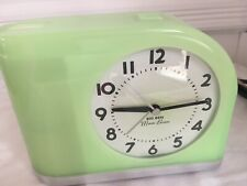 Westclox Big Ben Moon Beam Lime Green Retro Look Alarm Clock Works