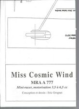 PLAN M.R.A N°777 - MISS COSMIC WIND - MINI-RACER, MOTORISATION 3.5 A 6.5 cc