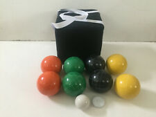 (4 of 10 options) Unique Bocce Sets - 107mm with Black,Yellow,Green,Orange Balls