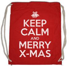 Keep Calm And Merry X-Mas Turnbeutel Let it Snow White Christmas Santa Fun