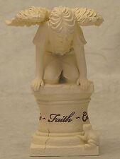 """Engel Figur """"Junge u Frosch"""" Schutzengel Geburt Taufe Grabschmuck - 20005A"""