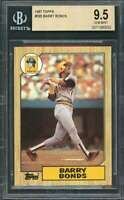 1987 topps #320 BARRY BONDS pittsburgh pirates rookie card BGS 9.5