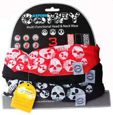 OXFORD COMODO Skull's 3-Pack nw106 TESTA E INDUMENTO per il collo