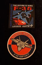 USAF Lockheed F-22 and F-35 Fifth Generation Fighter Patches Raptor JSF Stealth