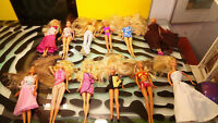 Barbie Lot of 12 Barbie & Friends Good Shape Different Eras Mattel