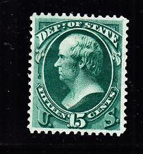 Us O64 15c State Department Mint Vf appr Og H Scv $320