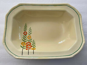 Taylor Smith Taylor TST60 Yellow Red Flowers Stems Leaves - OVAL VEGETABLE BOWL