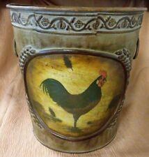 Rustic Farmhouse Bathroom/Kitchen Dry Waste Can or Cache Pot W/Chicken Design