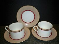 FINE CHINA MIKASA 'GRANDEUR TAUPE'' #LADO4  2 CUPS AND 3 SAUCERS