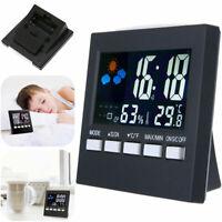 LED Digital Thermometer Hygrometer Wecker Luftfeuchtigkeitsmesser Raumtemperatur