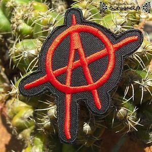 AUFNÄHER PATCH Punk Rock Anarchy anarchie Schwarz Rot Rockabilly red black MC