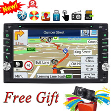 "Double 2 din 6.2"" Car Stereo GPS Navigation Radio DVD Player BT SWC Back Camera"