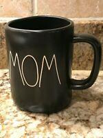 Rae Dunn By Magenta Black MOM Mug LL Farmhouse Chic Matte Gift Brand New