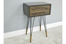 Bedside Chest / Cabinet of Drawers - Retro Industrial Style Design