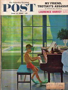 1960 Saturday Evening Post June 11 - Piano Practice; Baseball comedy;Lowndesboro