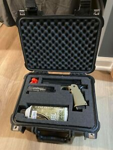 GBB Gas Blow Back Airsoft Jag Arms GM5 Pistol and Case