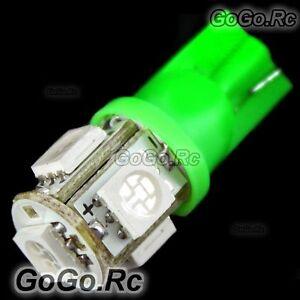 2 Pcs T10 5-SMD 5050 LED Car Light Bulb 194 168 501 - Green (LE001-05GN)