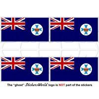 QUEENSLAND State Flag Australia QLD Australian Vinyl Stickers, Decals 50mm x4