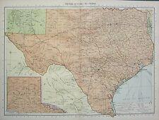 1934 LARGE MAP ~ UNITED STATES ~ TEXAS