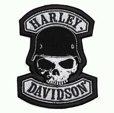 HARLEY DAVIDSON RETRO SPIKE SKULL HELMET 10 INCH JACKET VEST BACK PATCH (XXL)