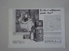 advertising Pubblicità 1937 ZEISS IKON IKONTA IKOFLEX