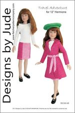 "Travel Adventure Doll Clothes Sewing Pattern 12"" Hermione Harry Potter Tonner"