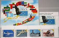 MICRONESIA MIKRONESIEN 1991 219-23 Block 9 138-42a Operation Desert Storm War NH