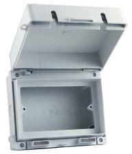 Europa ecwsk2-IP65 2 Gang TWIN DOUBLE SOCKET Enclosure Box