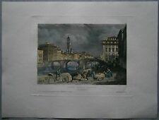 1833 Meyer print PONTE SANTA TRINITA, FIRENZE FLORENCE, ITALY (#12)