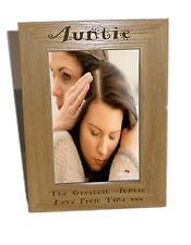 Auntie legno Photo Frame 6x8-personalizzare questo riquadro-INCISIONE GRATUITA