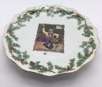 "Scalloped 6 1/4"" Diameter Bear Land Spanking Punishment Plate . Collectible Rare"