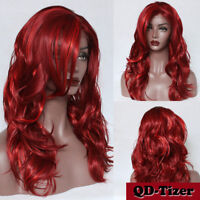 Women's Synthetic Lace Front Wigs Mixed Color Natural Long Wavy Wig Highlight