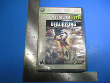 XBOX 360 Platinum Hits Deadrising Rated M Frank West Zombies Weapons
