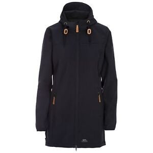 Trespass Kristy Womens Black Waterproof Jacket Long Softshell Coat