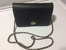 NWT - BEBE Black , Gold Chain Wallet Cross Body Bag Purse ��