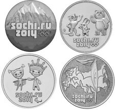 Russia 2014 Olympic Games Sochi FULL SET 4x25 ROUBLES rubles 2012-2014 UNC