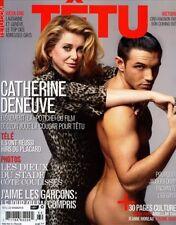 Tetu Magazine #160 10/2010 gay men CATHERINE DENEUVE JOHAN