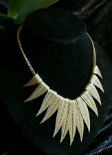 Vintage Carlo Zini Necklace Tribal Brass Designer Coachella boho Haute Couture