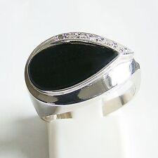Ring Gold 585er Onyx Diamanten Goldschmuck Damen 14 kt. Goldringe Edelsteine